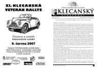 text 5/07 - Klecany