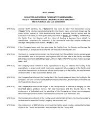 resolution # resolution authorizing the county to lease and sell ...