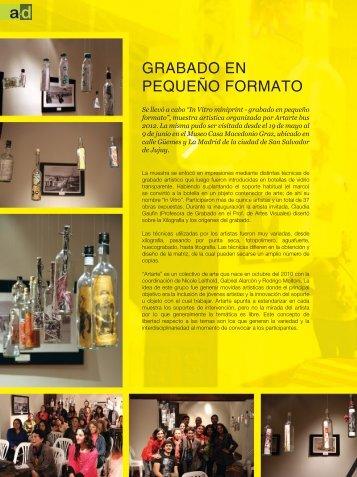 GRABADO EN PEQUEÑO FORMATO - Revista a+d