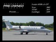 Learjet 45XR s/n 237 Year: 2003 TTAF: 1831 ... - Bombardier