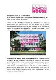 Pressemitteilung Düsseldorf Fashion House - Fashion Net Düsseldorf