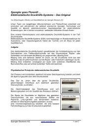 Spengler goes Florentil … Elektrostatische Druckhilfe-Systeme