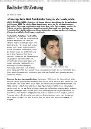16.02.2009 Quelle: Badische Zeitung Abwrackprämie lässt - Schmolck