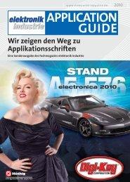 APPLICATION GUIDE - Elektronik Industrie