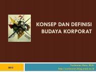 Materi Budaya Korporat 13 Maret 2012 dapat diambil di sini - Unair