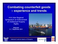 Combating counterfeit goods – experience and trends