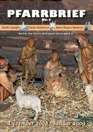 Gemeindebrief Dezember 2008 / Januar 2009 - St. Joseph ...