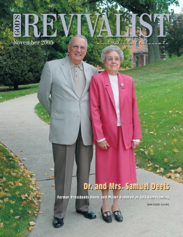 Download the November Issue - God's Bible School & College