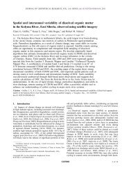 Spatial and interannual variability of dissolved organic matter in the ...