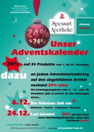 Adventskalender - Spessart Apotheke
