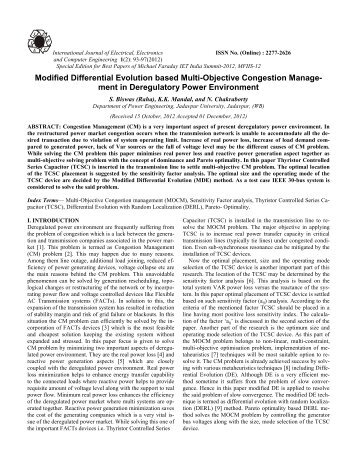 Modified Differential Evolution based Multi-Objective Congestion ...