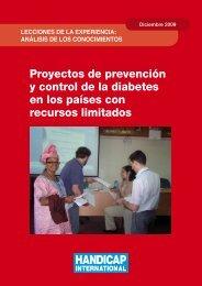 Proyectos de prevención y control de la diabetes en los países con ...