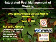 Integrated pest management of ginseng - Russell Labs Site Hosting