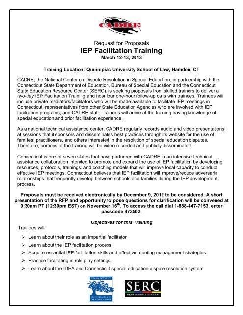 IEP Facilitation Training RFP FINAL11 6 12 pdf - Direction