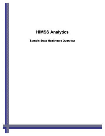 Download a sample State Healthcare Overview - HIMSS Analytics
