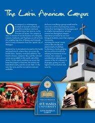 The Latin American Experience - Ave Maria University