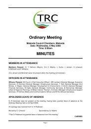 6 May 2009 - Tablelands Regional Council