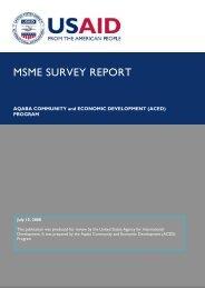 MSME SURVEY REPORT - Aced-jordan.com