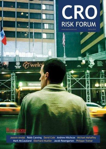 CRO Risk Forum 2013 - Reactions