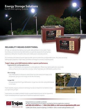 Street Lighting - Trojan Battery Company