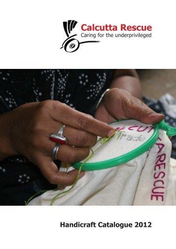 Handicraft Catalogue 2012 - Calcutta Rescue