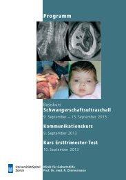 Programm (pdf) - Geburtshilfe - UniversitätsSpital Zürich