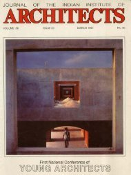 Journal of The Indian Institute of Architects, March