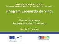 Umowa - Leonardo da Vinci