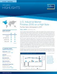 PDF: Colliers: U.S. Industrial Market Finishes 2010 on a High Note