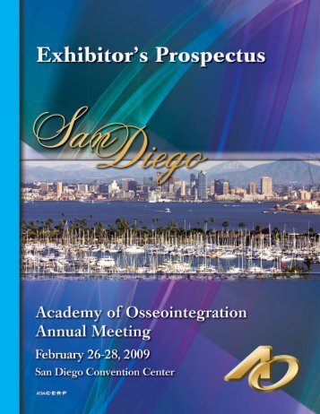 Exhibitor Prospectus - Academy of Osseointegration