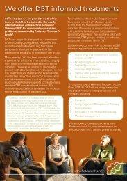 We offer DBT informed treatments - Devon Partnership NHS Trust