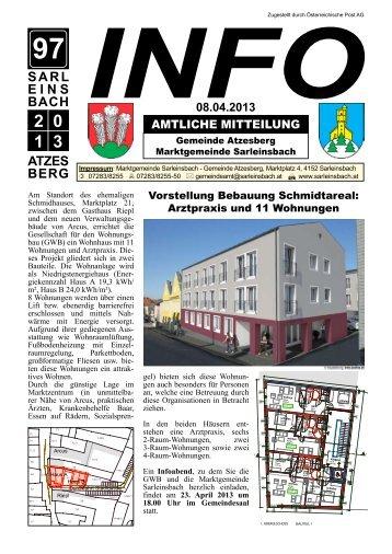 20. April 2013 - Marktgemeinde Sarleinsbach