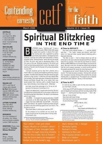 B Spiritual Blitzkrieg - Christian-witness.org