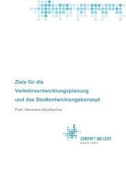 Ziele für die Verkehrsentwicklungsplanung und ... - Zukunft am Lech