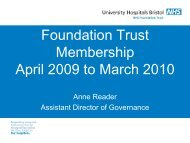 Foundation Trust Membership April 2009 to March 2010