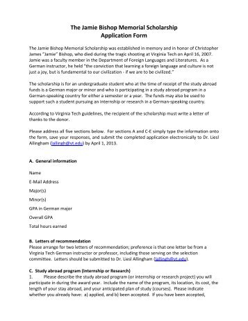 Essay For Virginia Tech Application  Learning English Essay also Essays About Health  Politics And The English Language Essay