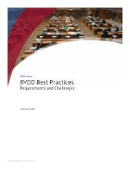 BYOD Best Practices - Requirements and Challenges - Wavelink