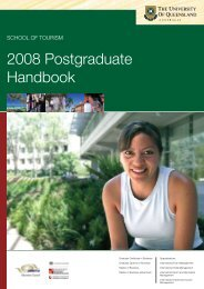 Handbook 2008 Postgraduate - School of Tourism - University of ...