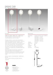 Product information about the Smoke lamp series (PDF ... - Connox