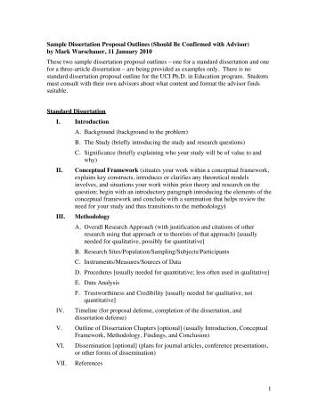 proposal outline