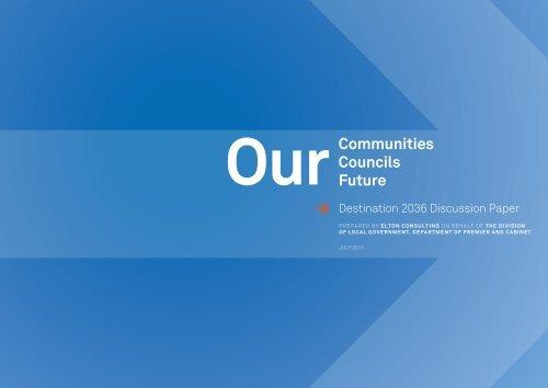Destination 2036 Discussion Paper - Division of Local Government