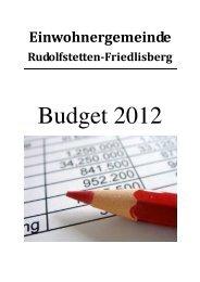 Download Voranschlag 2012 - Gemeinde Rudolfstetten