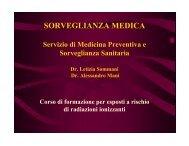 L. Sommari, A. Mani: Sorveglianza Medica - INFN