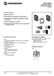 Válvula 3/2 vias acionamento manual - Coppi