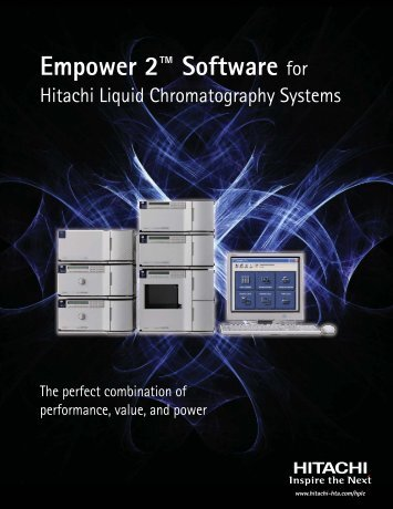 Empower 2™ Software for - Hitachi High Technologies America, Inc