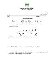 DEPARTAMENTO DE QUÍMICA Química Orgânica II (Exame) Nome ...
