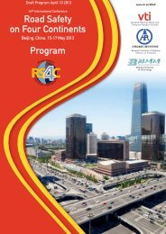 Road Safety on Four Continents Program - VTI