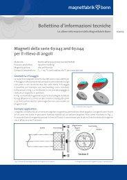 Bollettino d'informazioni tecniche - Magnetfabrik Bonn