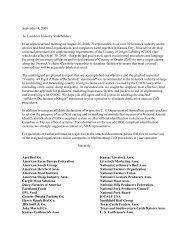 universal set of affidavits - National Milk Producers Federation