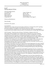 Board meeting minutes March 2006 - Hang Gliding Federation of ...